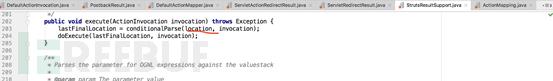 跟踪ServletActionResult类中的super.execute