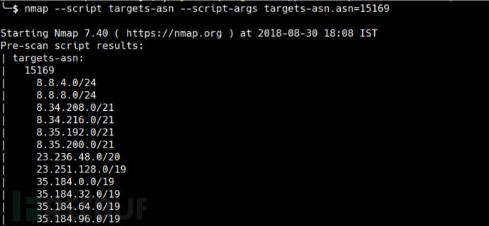 识别属于ASN号码的所有网络块