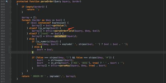 天融信关于ThinkPHP 5.1.x SQL注入漏洞分析