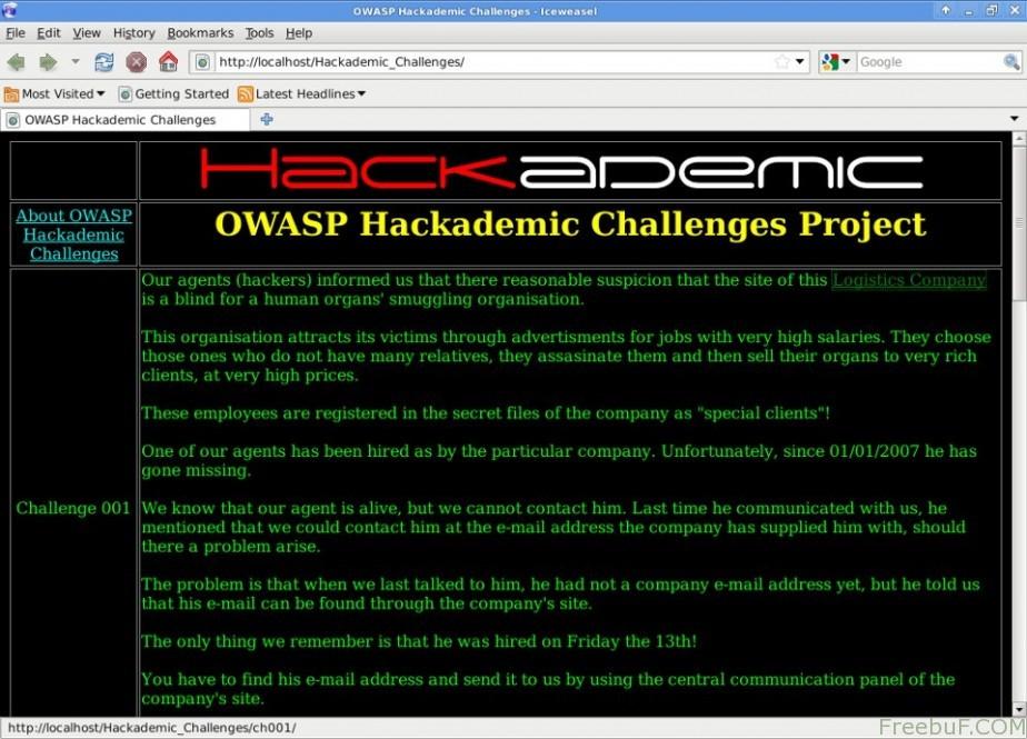 OWASP Hackademic 十大渗透测试演练系统
