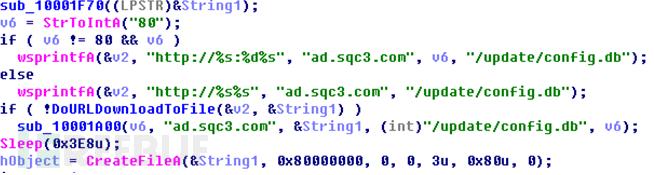 Addata.dll中硬编码的配置文件URL信息