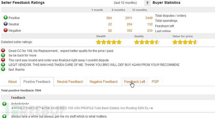 AlphaBay 用户评价