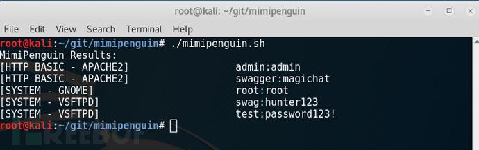 Linux下密码抓取神器mimipenguin发布