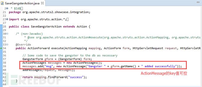 ActionMessage的Key可控值