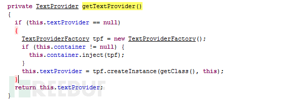 getText(StringaTextName) 方法的代码