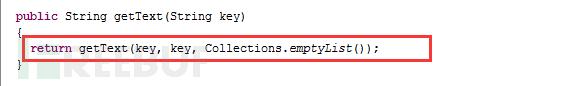 TextProviderSupport.getText(String key, String defaultValue, List<?> args) 方法的代码