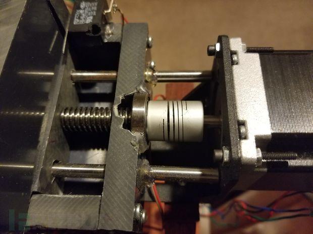 固定螺丝和步进电机