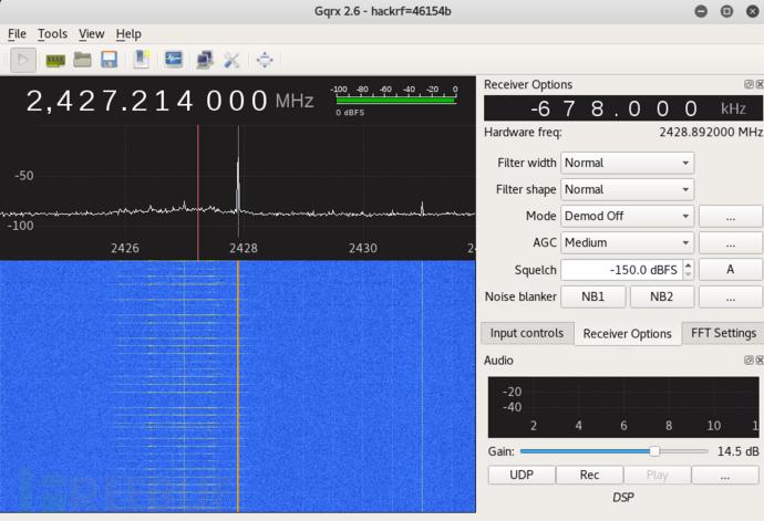 通过 Gqrx SDR 找工作频段
