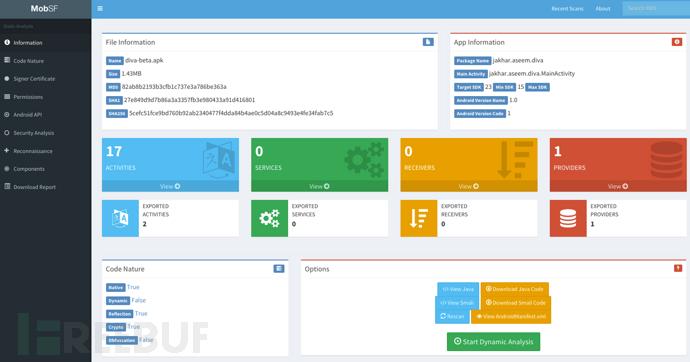 MobSF:一款功能强大的智能移动安全框架
