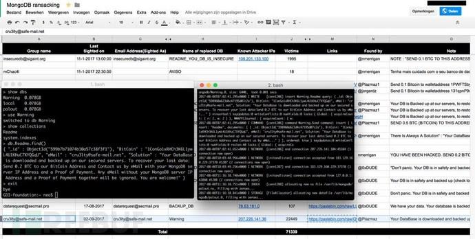 MongoDB数据库遭大规模勒索攻击