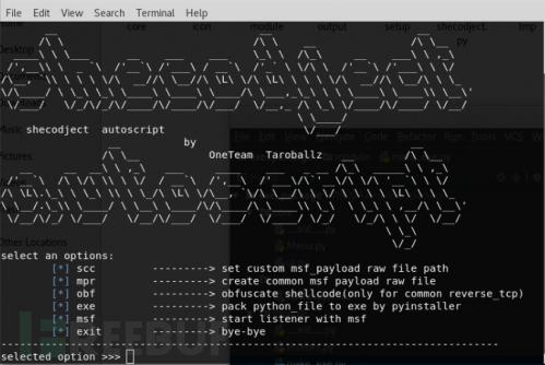 Metasploit自动化Bypass Av脚本:shecodject X shellcode injection