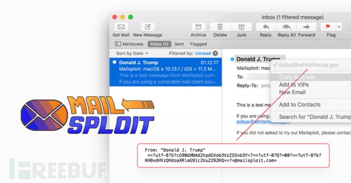 MailSploit:30多种邮件客户端存在电邮身份伪造漏洞