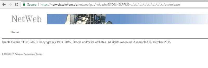 德国电信网站从LFI到命令执行漏洞