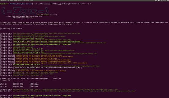 开源工具Zeus-Scanner宙斯扫描器