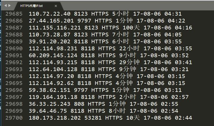 基于代理IP的挖掘与分析