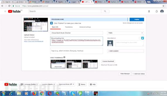 """通过youtube上传视频并附上捆绑木马工具的链接攻击""""工具小子"""""""
