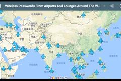 全球机场无线密码地图
