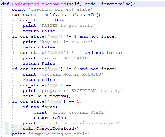 SafeAppendProgramMod函数检查目标状态