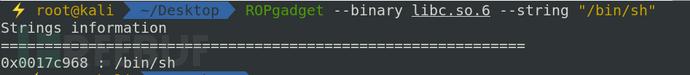 查找 /bin/sh 字符串