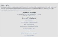 如何阅读RFC文档?