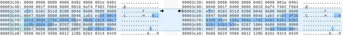 正常文件VS修改后的文件