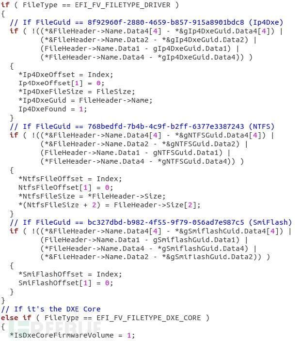 解析固件卷的进程的Hex-Rays反编译器输出
