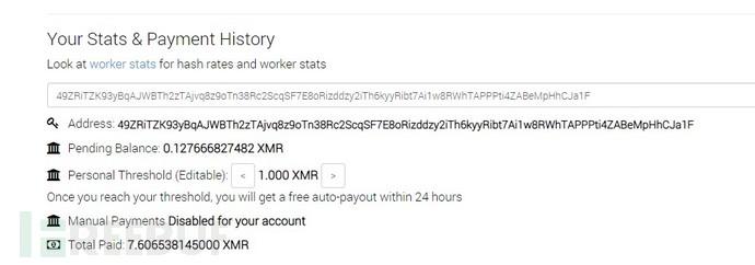 黑客挖XMR数量