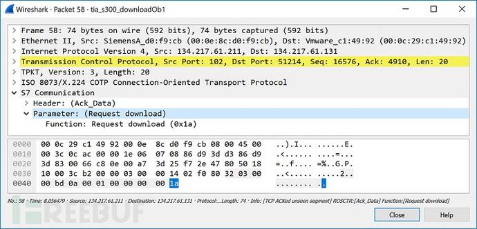图28 请求下载_0800001P的确认数据响应