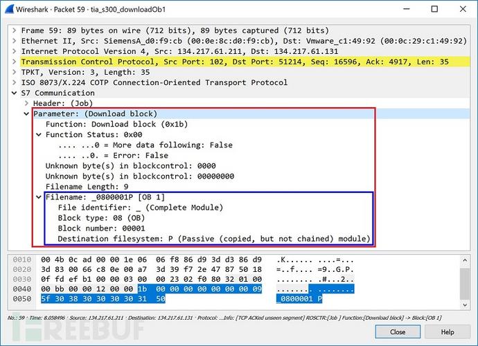 图29 下载块_0800001P的作业请求