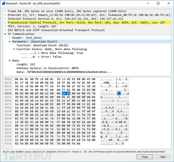 图30 下载块_0800001P的响应