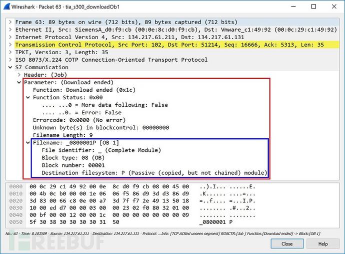 图31 结束下载_0800001P的作业请求