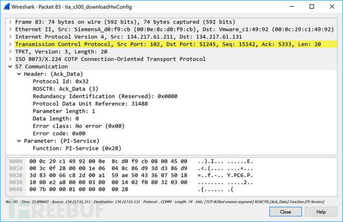 图42 _INSE(激活PLC模块)的响应