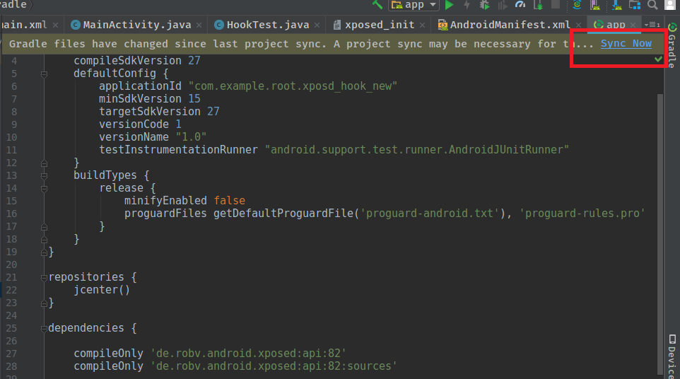 Gradle 5 Compileonly