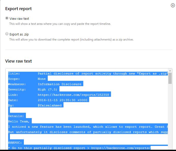 挖洞经验| HackerOne安全团队内部处理附件导出漏洞($12,500