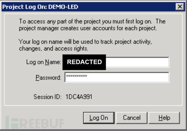 未授权的t*bd用户使用一个静态密码访问受密码保护的项目文件