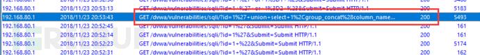 SQL注入分析