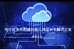 电子政务外网横向接入网络安全解决方案