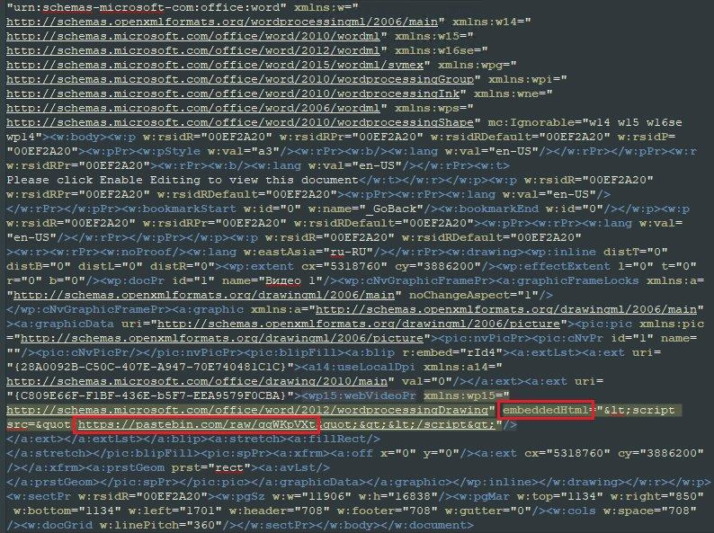 在Office文档的嵌入式视频中插入恶意URL的感染流程分-互联网之家