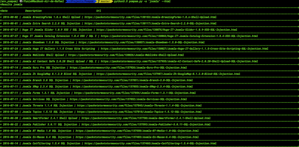 Pompem :一款功能强大的漏洞利用&挖洞工具-互联网之家