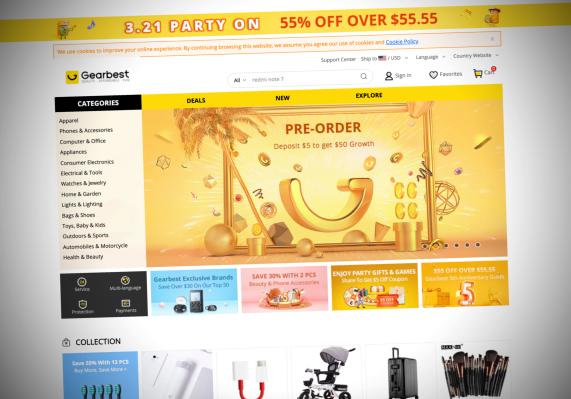 环球易购旗下跨境电商网站Gearbest泄露数百万用户信息和订单-互联网之家