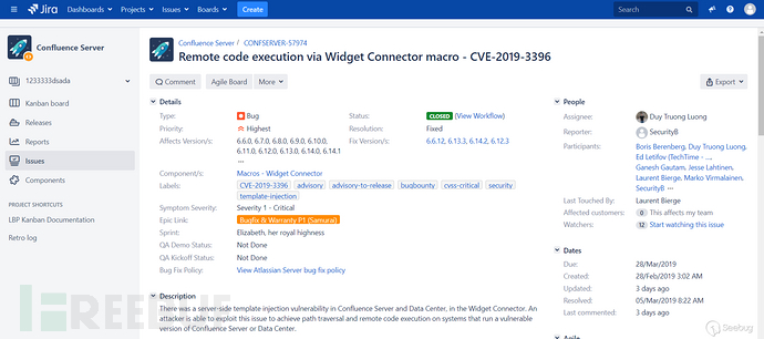 Confluence 未授权 RCE (CVE-2019-3396) 漏洞分析