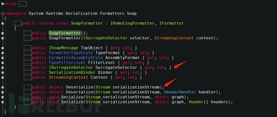 SoapFormatter反序列化漏洞