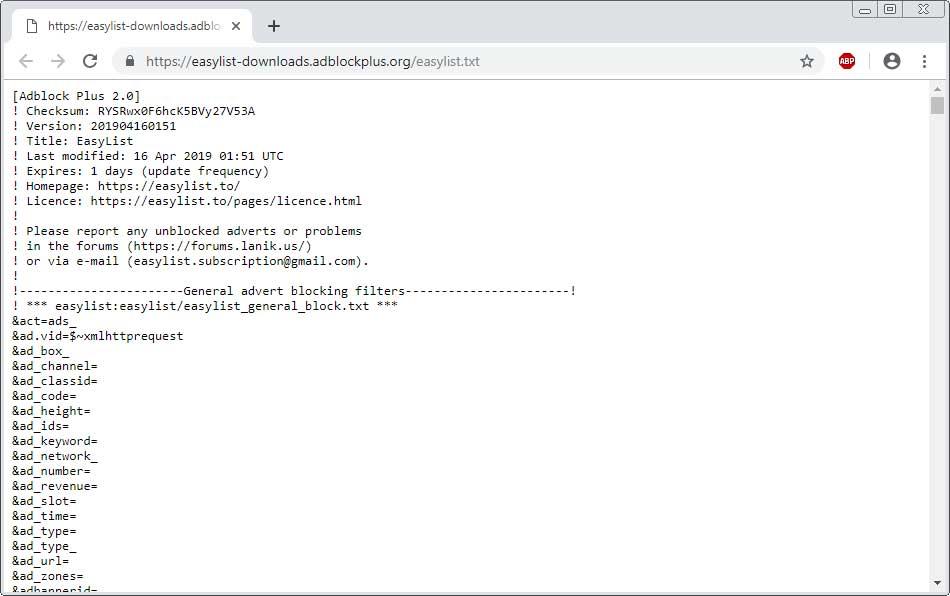 Adblock Plus订阅列表机制存在漏洞-互联网之家
