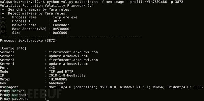 MalConfScan:从已知的恶意软件家族中提取配置信息