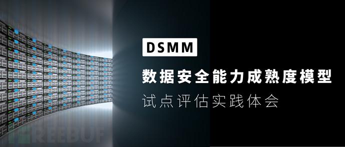 DSMM数据安全能力成熟度模型试点评估实践体会