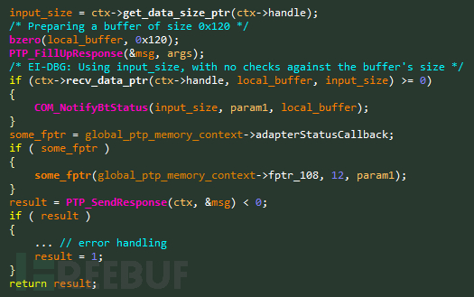 Figure 6 – Vulnerable code snippet from the NotifyBtStatus handler..png