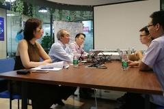 新加坡经济发展局林瑞年局长带队考察几维安全总部